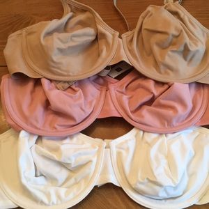 Double lined support bras